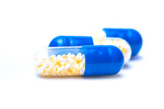 Colorful tablets with capsules royalty free stock photo