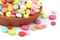 Colorful tablets Royalty Free Stock Photography