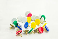 Colorful tacks Stock Photography
