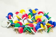 Colorful tacks Royalty Free Stock Photography