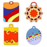 Colorful tag collection Royalty Free Stock Photos