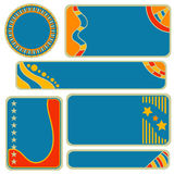 Colorful tag, label or banner collection Royalty Free Stock Photo