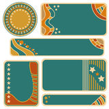 Colorful tag, label or banner collection Royalty Free Stock Photos