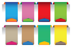 Colorful tag labels stock illustration