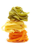 Colorful tagliatelle Stock Photos