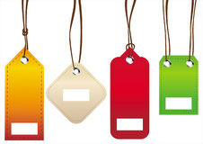 Colorful tags Stock Image