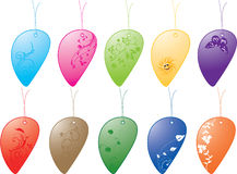 Colorful tags collection Stock Images
