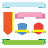 Colorful tags and labels Royalty Free Stock Photos