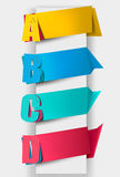 Colorful tags with letters Royalty Free Stock Photography