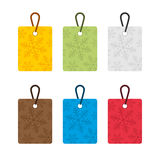 Colorful tags Stock Photography