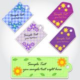 Colorful tags for scrapbook. Set of Colorful tags for scrapbook Royalty Free Stock Photo