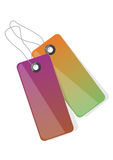 Colorful tags vector Stock Photography