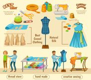 Colorful Tailoring Infographic Concept Stock Photography