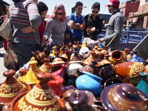 Colorful tajines Royalty Free Stock Images