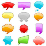 Colorful talk bubbles Royalty Free Stock Photos