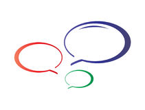 Colorful talk bubbles icon Royalty Free Stock Photography