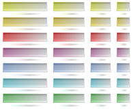 Colorful Tamplates For Web Buttons Royalty Free Stock Photo
