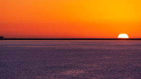 Colorful Tamps Bay Sunset Royalty Free Stock Photos