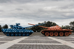 Colorful Tanks Stock Image