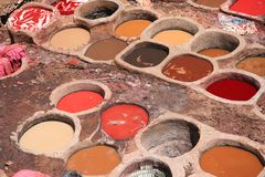 Colorful tanneries royalty free stock photography