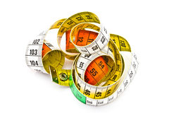 Colorful tape measure Royalty Free Stock Photo