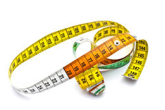 Colorful tape measure stock photos