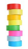 Colorful tape roll Royalty Free Stock Images