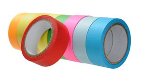 Colorful tape roll isolated Royalty Free Stock Photo
