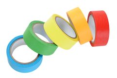 Colorful tape roll Royalty Free Stock Image