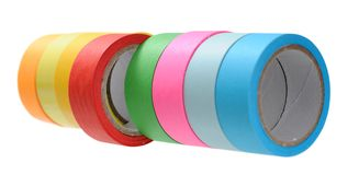 Colorful tape roll Stock Photo