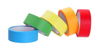Colorful tape rolls Royalty Free Stock Photo