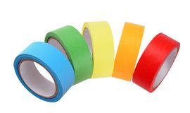 Colorful tape rolls Stock Images