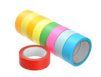Colorful tape rolls Royalty Free Stock Photography