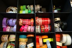 Colorful tape to decorate, scrapbook material Royalty Free Stock Photography
