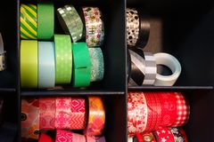 Colorful tape to decorate, scrapbook material Stock Images