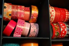 Colorful tape to decorate, scrapbook material, tapes Royalty Free Stock Photo