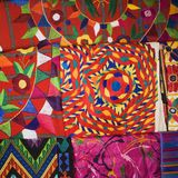 Colorful tapestries. Royalty Free Stock Image