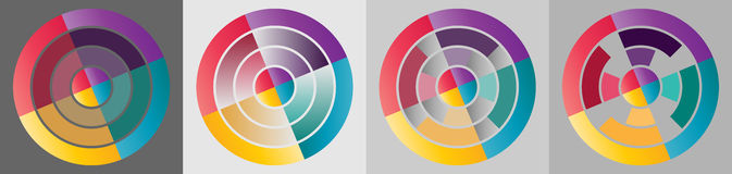 Colorful target circle info graphic stock photography