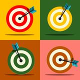 Target Icons Set. Vector. Royalty Free Stock Images