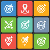 Colorful target icons for web and mobile. Vector Royalty Free Stock Photo