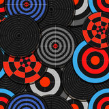 Colorful targets seamless background Royalty Free Stock Images