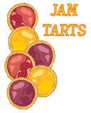 Colorful tarts Stock Photography