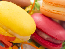 Colorful and tasteful macaroons Royalty Free Stock Photography