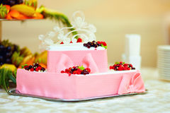 Colorful tasty berry cake Royalty Free Stock Photos