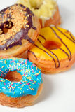 Colorful and tasty donuts Stock Photos