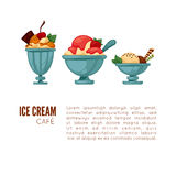 Colorful tasty ice cream. Royalty Free Stock Photos