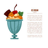 Colorful tasty ice cream. Royalty Free Stock Photo