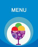 Colorful tasty ice-cream menu template Stock Photography