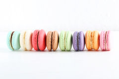 Colorful and tasty macaron Stock Photos