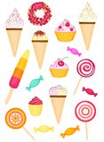 Colorful tasty set Stock Photography